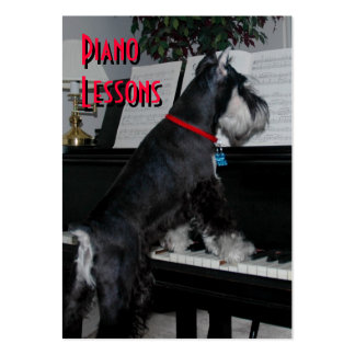 Piano Lessons Business Card Templates