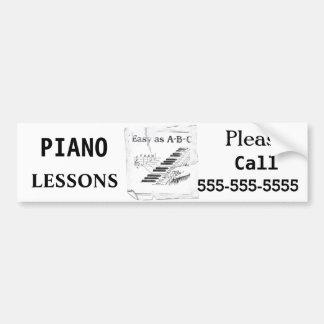 Piano Lessons - Customizable Bumper Sticker