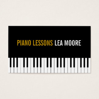 Piano Lessons Music Instructor Business Card