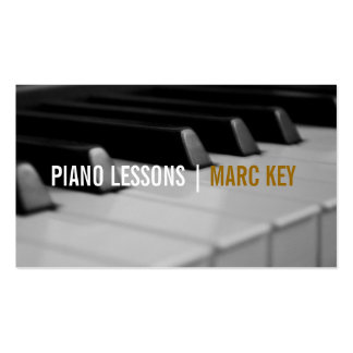 Piano Lessons, Music Instructor Double-Sided Standard Business Cards (Pack Of 100)