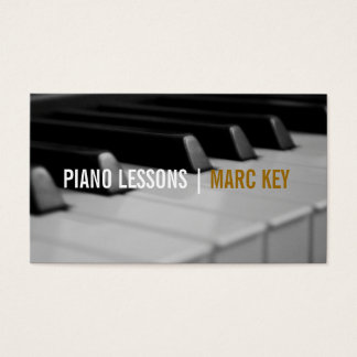 Piano Lessons, Music Instructor Business Card