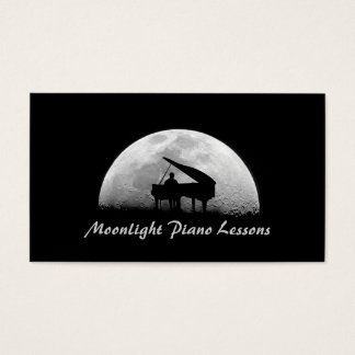 Piano Lessons, Music, Instruments Business Card
