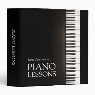 Piano Lessons Music Teacher 3 Ring Binder
