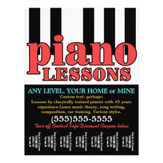 Piano Lessons. Music Tutor.Customizable Tear sheet