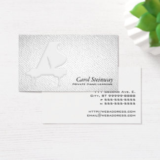 Piano Lessons Textured Look Business Card