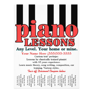 Piano Lessons. Tutor. Music Teacher. Tear sheet