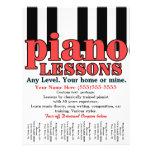 "Piano Lessons. Tutor. Music Teacher. Tear sheet 8.5"" X 11"" Flyer"