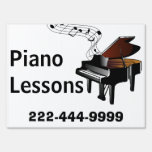 Piano Lessons Yard Sign
