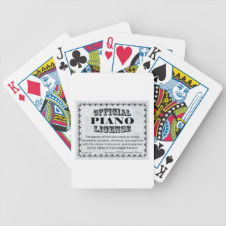 Piano License Bicycle Playing Cards