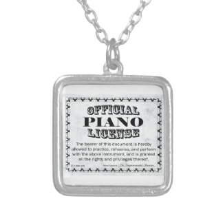 Piano License Silver Plated Necklace