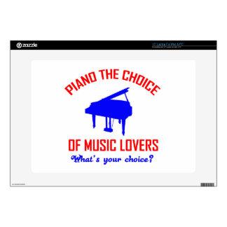 Piano lovers design laptop decals