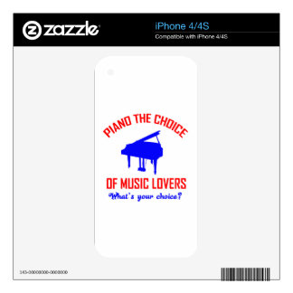 Piano lovers design skins for iPhone 4