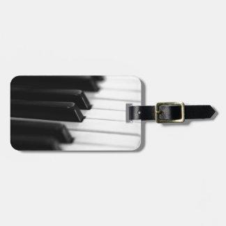 piano luggage tag