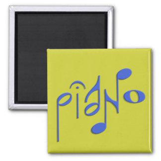 piano 2 inch square magnet
