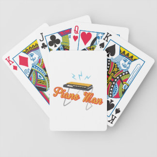 Piano Man Bicycle Playing Cards