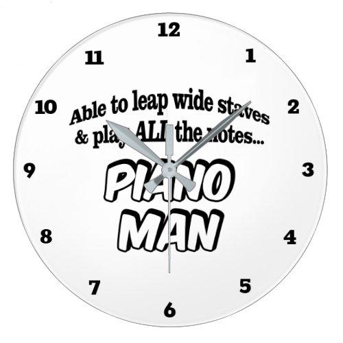 Piano Man _ Music Superhero Large Clock