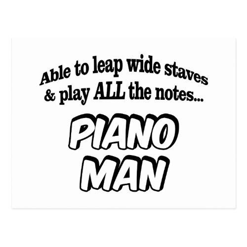 Piano Man _ Music Superhero Postcard