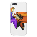 Piano man playing grand piano blue coat case for iPhone 5