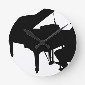 Piano Man Round Clock
