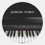 Piano man sticker sheet
