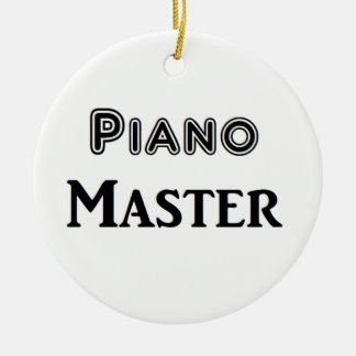Piano Master Double-Sided Ceramic Round Christmas Ornament