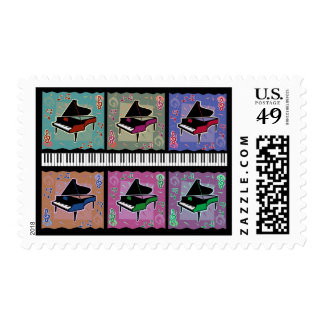 Piano Medley Postage Stamp