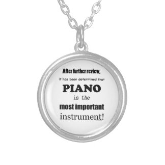 Piano  Most Important Instrument Personalized Necklace