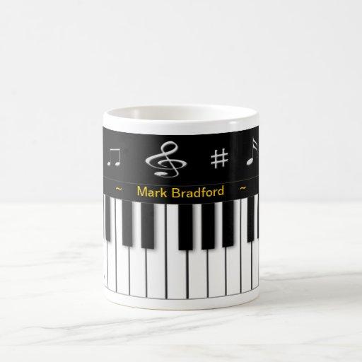 Piano Mug - Personalize Name