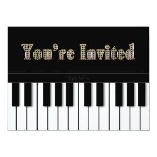 PIANO MULTI PURPOSE INVITATION - GOLD INVITE