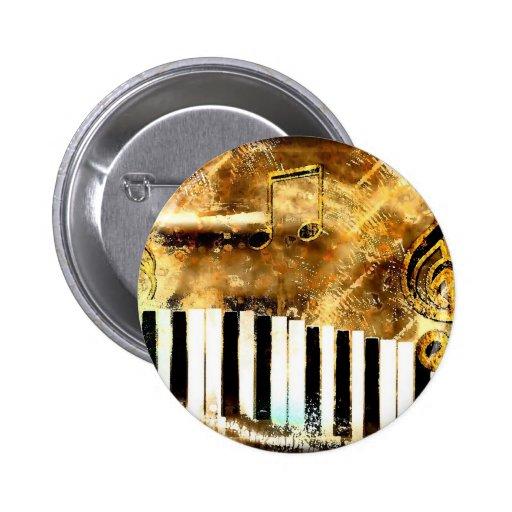 Piano Music 2 Inch Round Button