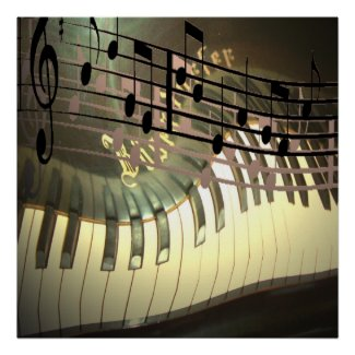 Piano Music Abstract print