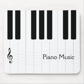 Piano Music Black and White Mouse Pad