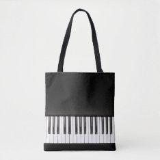 Piano Music Black And White Tote Bag at Zazzle