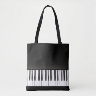 Piano Music Black and White Tote Bag