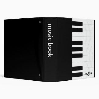 Piano Music Book Lyrics Binder