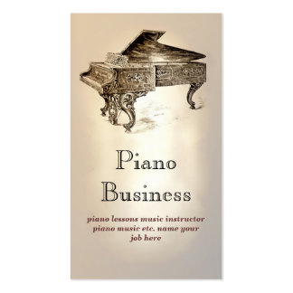 piano music business card standard business cards