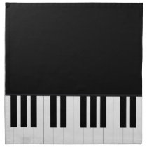 PIANO MUSIC CLOTH NAPKIN