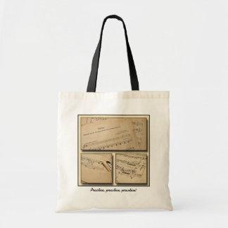 Piano Music Custom Tote Bag