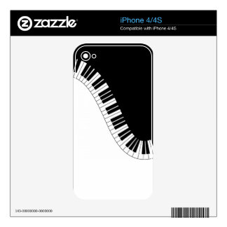 PIANO MUSIC DECALS FOR THE iPhone 4S