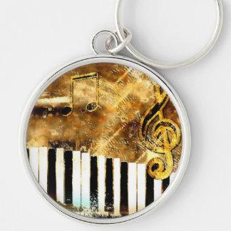 Piano Music Key Chains