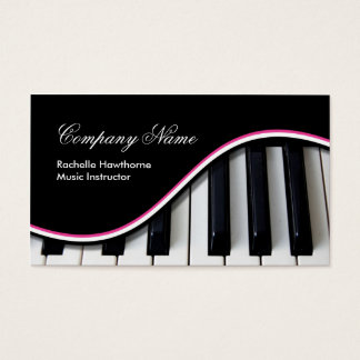 Piano Music Keys Business Cards ~ pink