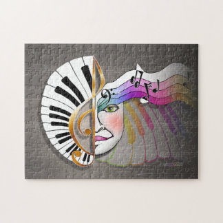 Piano Music Mask Puzzle