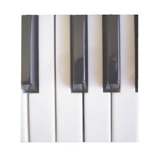 Piano Music Memo Notepads