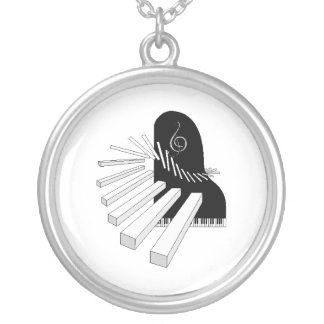 piano music necklace