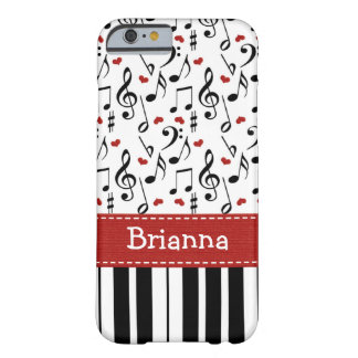 Piano Music Note Keyboard Barely There iPhone 6 Case
