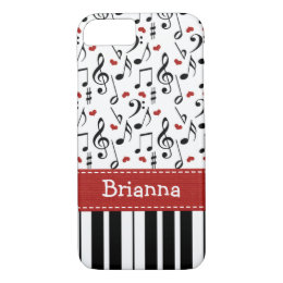 Piano Music Note Keyboard iPhone 8/7 Case
