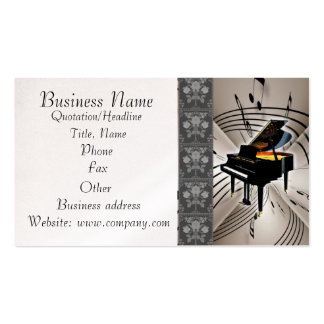 Piano Music Notes Business Card