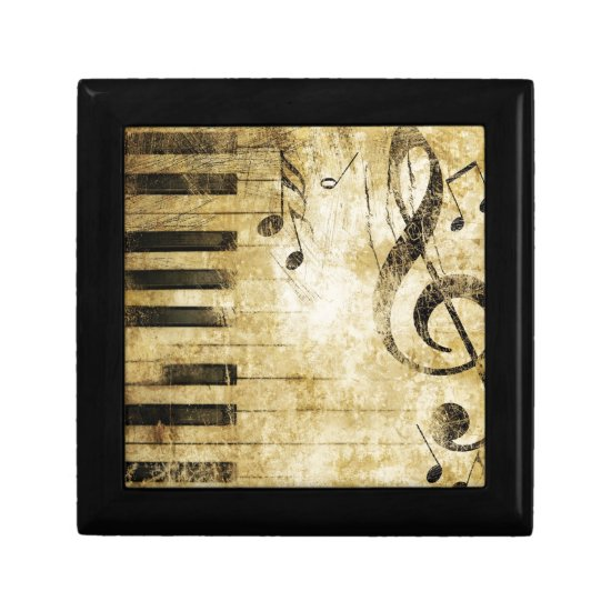 Piano Music Notes Jewelry Box