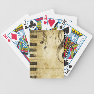 Piano Music Notes Poker Cards