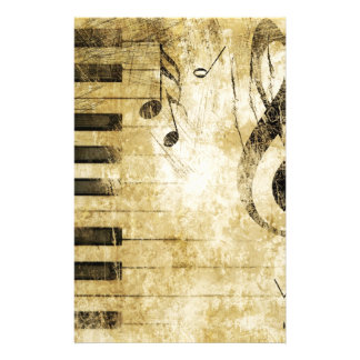 Piano Music Notes Stationery